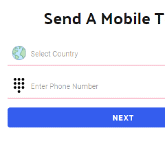select country and enter phone
